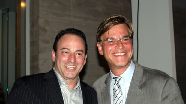 Final Draft, Inc. CEO and Co-Founder Marc Madnick and 2010 Final Draft, Inc. Hall of Fame honoree, screenwriter Aaron Sorkin.