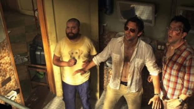 Zach Galifianakis, Bradley Cooper and Ed Helms in The Hangover Part II.