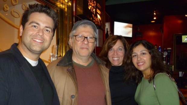 Script's west coast/web editor Joshua Stecker, actor/writer/director Peter Riegert (Animal House), #Scriptchat's Jeanne Veillette Bowerman and Kim Garland.