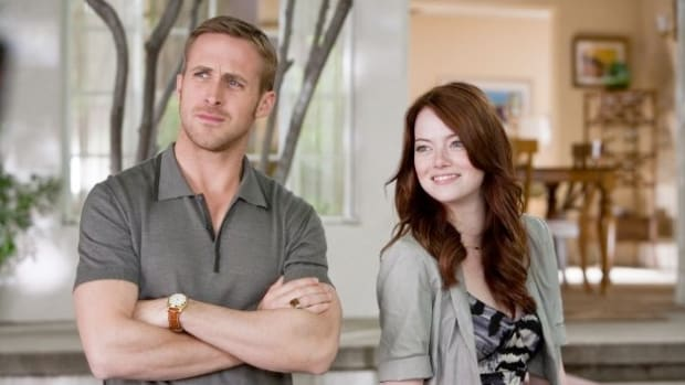 Ryan Gosling and Emma Stone in Crazy, Stupid, Love.