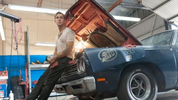 "Ryan Gosling plays the ""driver with no name"" in Drive."