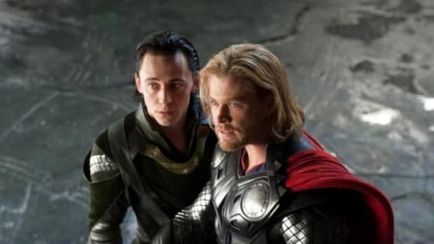 Thor (Chris Hemsworth) and Loki (Tom Hiddleston) get ready for battle. Ok, maybe just Thor.