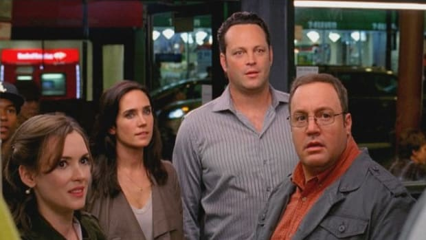 The Dilemma stars, from left, Winona Ryder, Jennifer Connelly, Vince Vaughn and Kevin James.