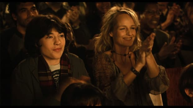 Ezra Miller and Helen Hunt in Every Day, written/directed by Richard Levine.
