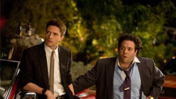 Topher Grace and Dan Fogler in Take Me Home Tonight.