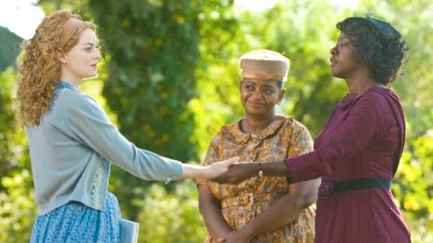 Emma Stone, Octavia Spencer and Viola Davis in The Help.