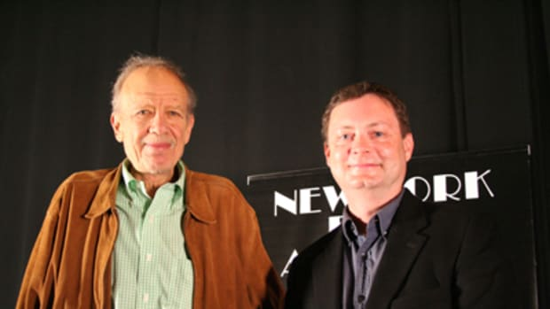 Tom Mankiewicz (left) with Script contributor, Ray Morton.