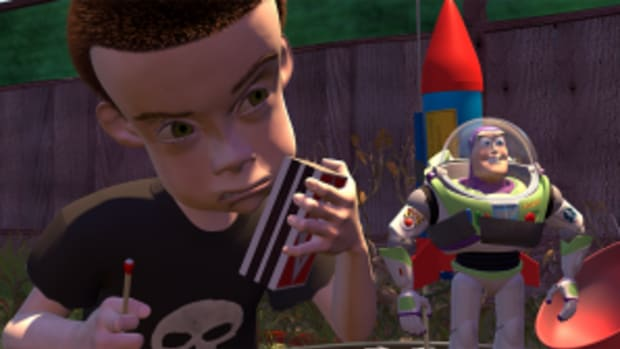 Sid & Buzz in Toy Story