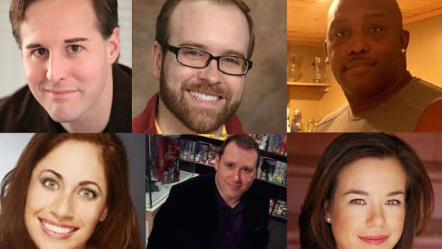 Meet some of the military members featured in 'Military Veterans in Creative Careers': (top row) Giles Clarke, Justin Sloan, Melvin Smith, (bottom row) Jennifer Brofer, Kel Symons, Jackie Perez