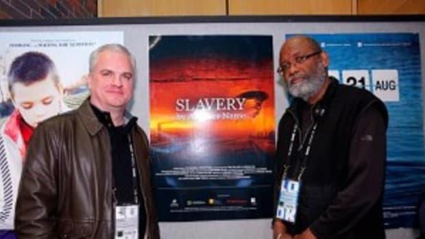 Douglas A. Blackmon (left) and Sam Pollard at Sundance