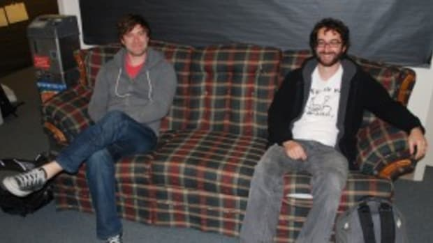 Filmmakers Mark Duplass (L) and Jay Duplass