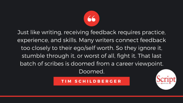 Effectively taking feedback in a way that helps not only your writing, but also your career, takes practice. Tim Schildberger gives six tips for taking feedback like a pro.