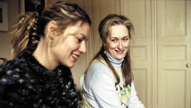 (Left- Claire Danes and Meryl Streep in The Hours, written by David Hare.) (Right - Julianne Moore)