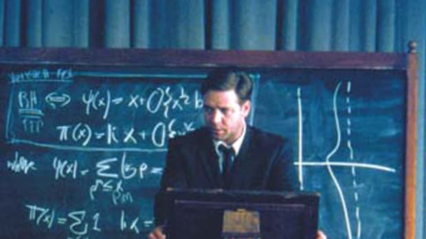 Russell Crowe stars as John Nash in A Beautiful Mind. All pictures courtesy of Eli Reed. 2001 Universal Studios. All rights reserved