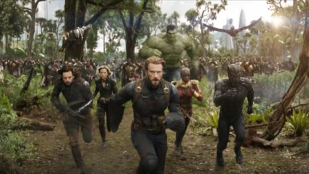Don Cheadle's War Machine (top left) flies high again in the new Avengers: Infinity War trailer.
