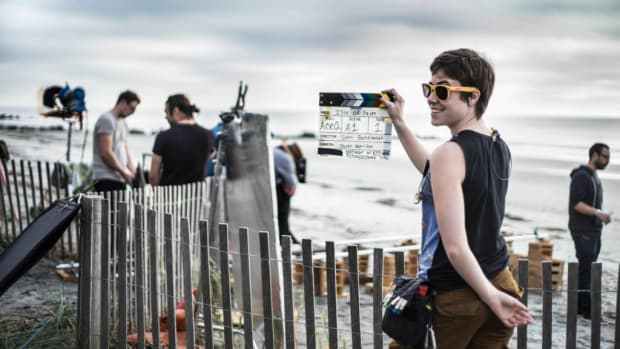 TTC student Cassie Tuten on set of Indie Grant film ISLE OF PALMS