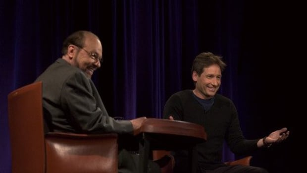 James Lipton and David Duchovny