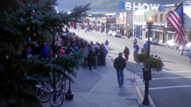 Typical cue for film showing at a festival, this one at Telluride Film Festival 2012