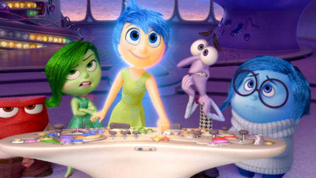 Joy is the main character of Inside Out, and for some reason the other emotions identify her as their leader.