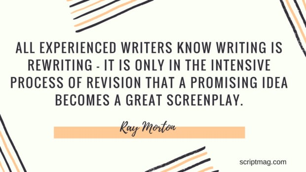 Ray Morton warns of the many distractions on the path to being a professional screenwriter and explains the goal that is most important... writing a great script.