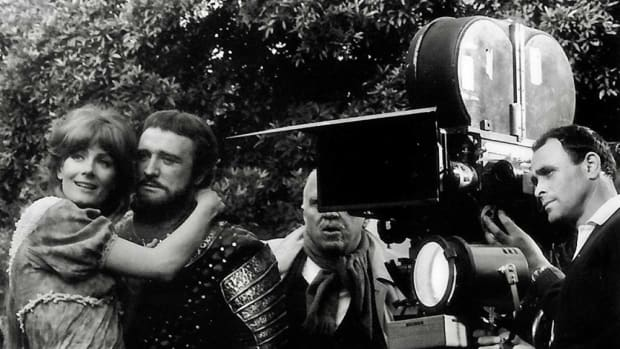 Vanessa Redgrave, Richard Harris, and Richard H. Kline in Camelot (1967) - Photo courtesy of IMDb