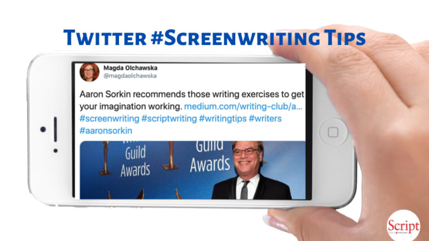 Twitter #Screenwriting Tips Aaron Sorkin Writing Exercises