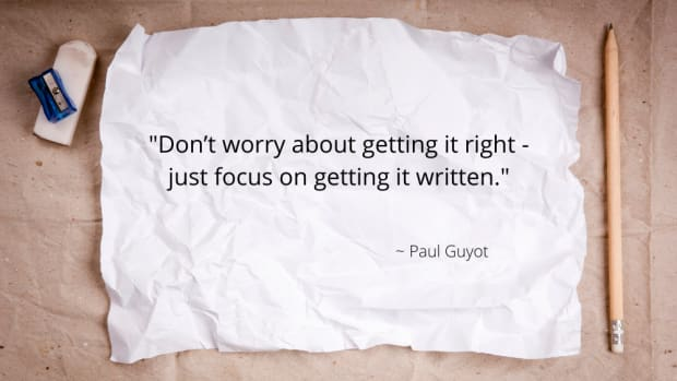 _Don't worry about getting it right - just focus on getting it written._