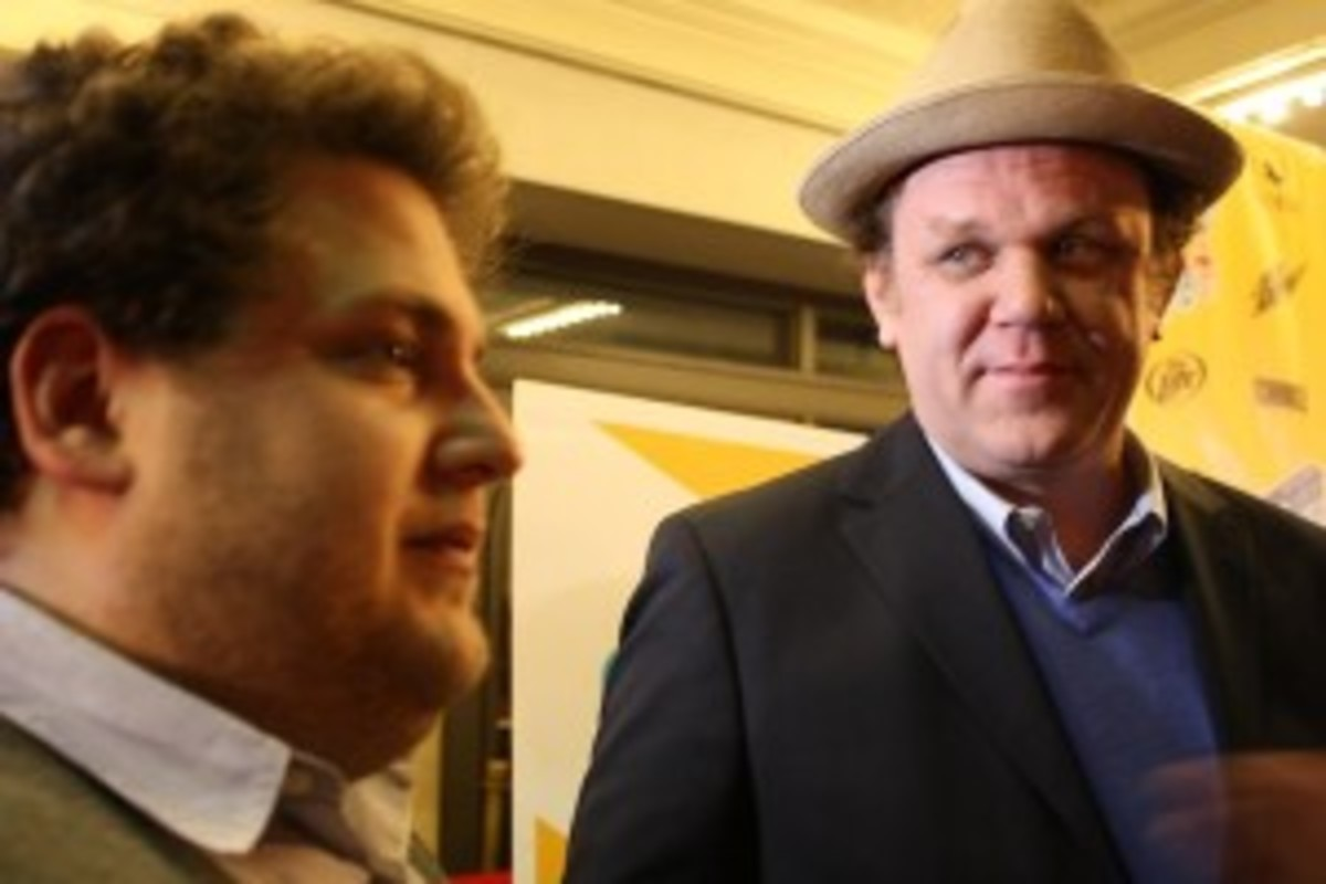 Jonah Hill and John C. Reilly arrive on the red carpet for SXSW/2010 premiere of Cyrus. (photo by Cassie Bannister/Script)