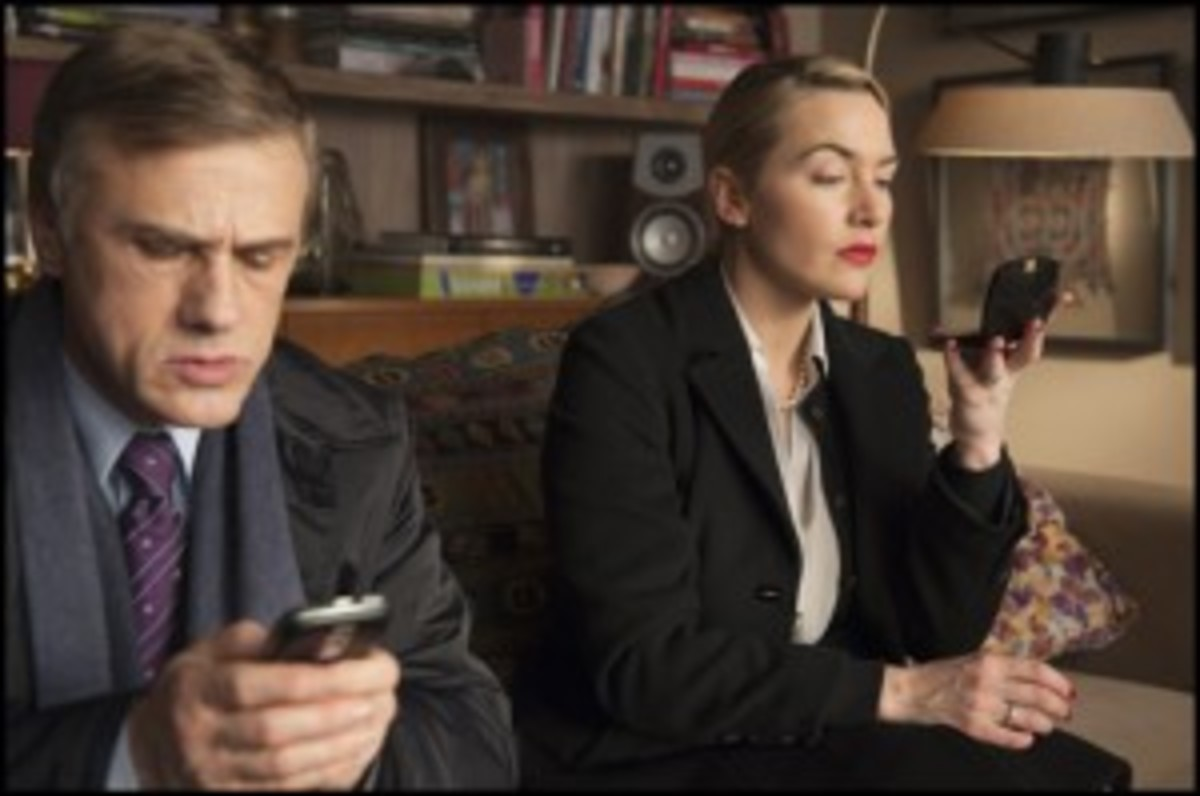 Christoph Waltz and Kate Winslet; Sony Pictures Classics