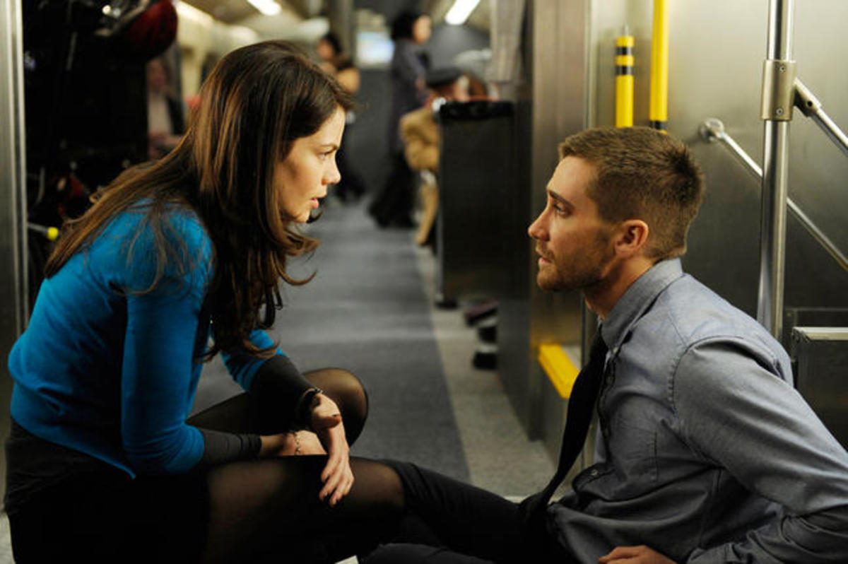 Michelle Monaghan and Jake Gyllenhaal star in SOURCE CODE, written by Ben Ripley and directed by Duncan Jones.