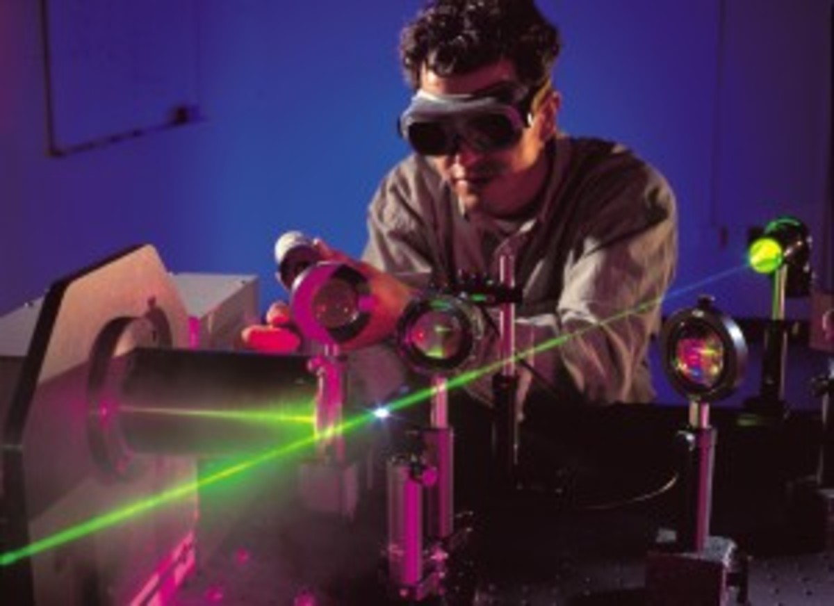 Wanna go to grad school?... This is the focus you need. (Plus, pictures with lasers are always cool.)