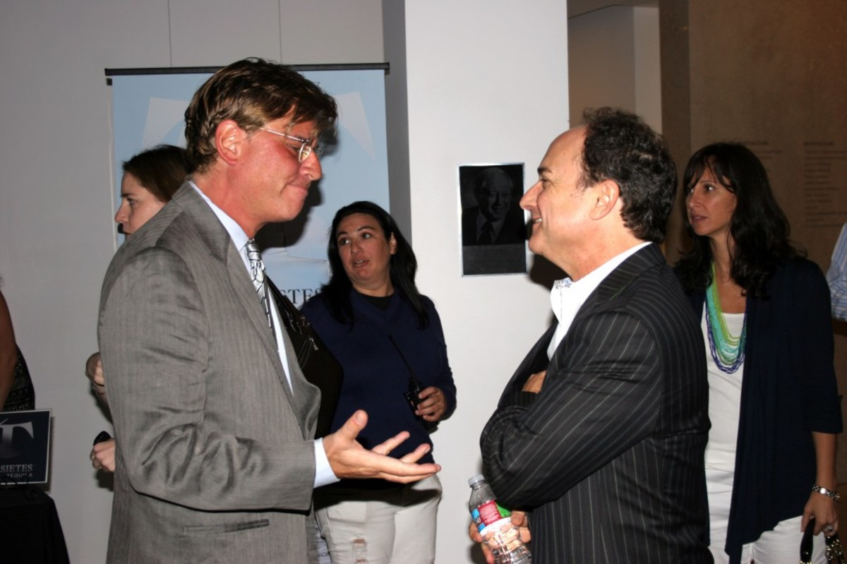 Aaron Sorkin with actor Kevin Pollack (A Few Good Men).