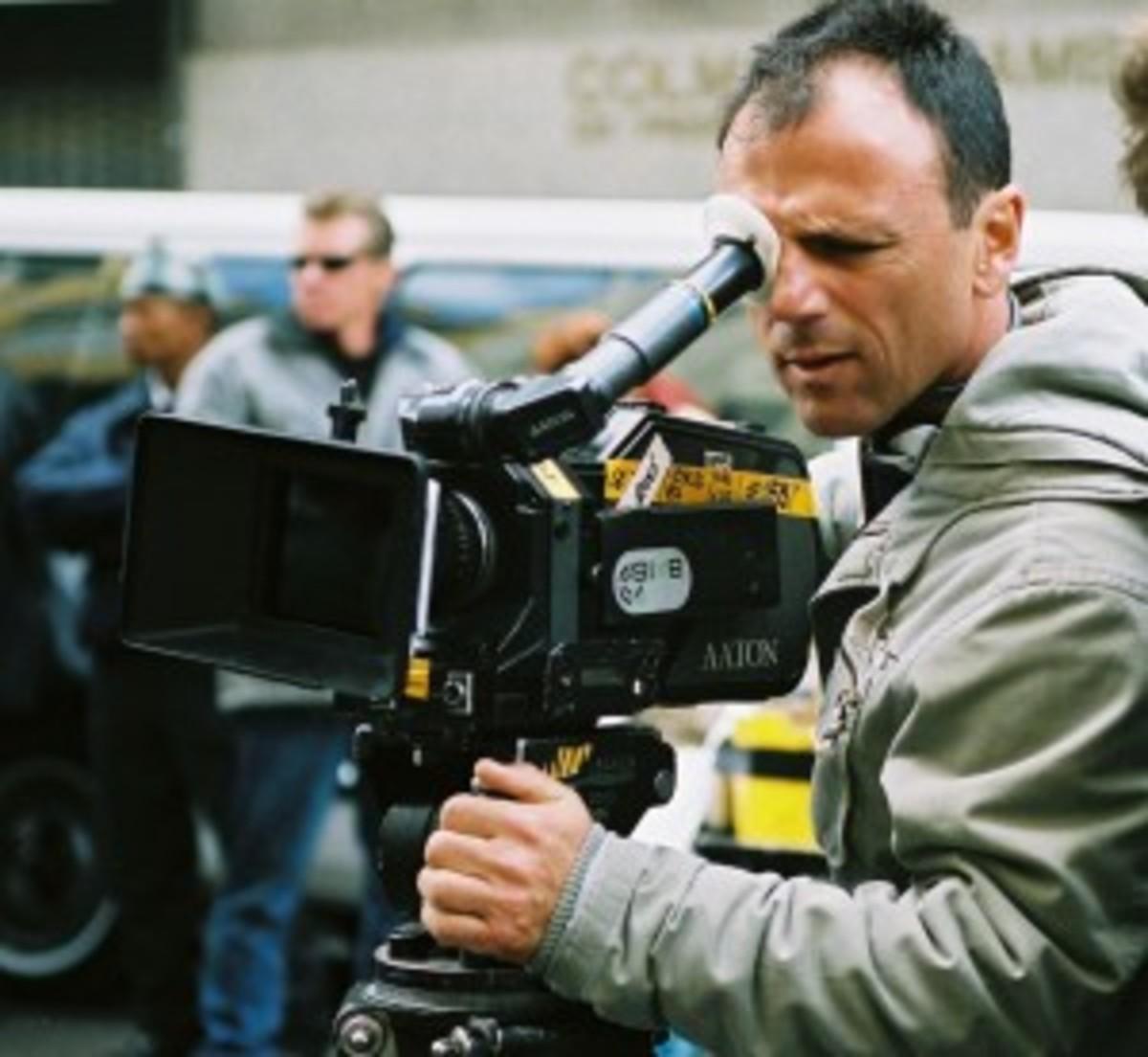 Writer and director Ralph Ziman on set of Anchor Bay Films' GANGSTER'S PARADISE: JERUSALEMA. (Photo Credit: Ronnie Apteker. Copyright Jerusalem Entjha Films Ltd.)