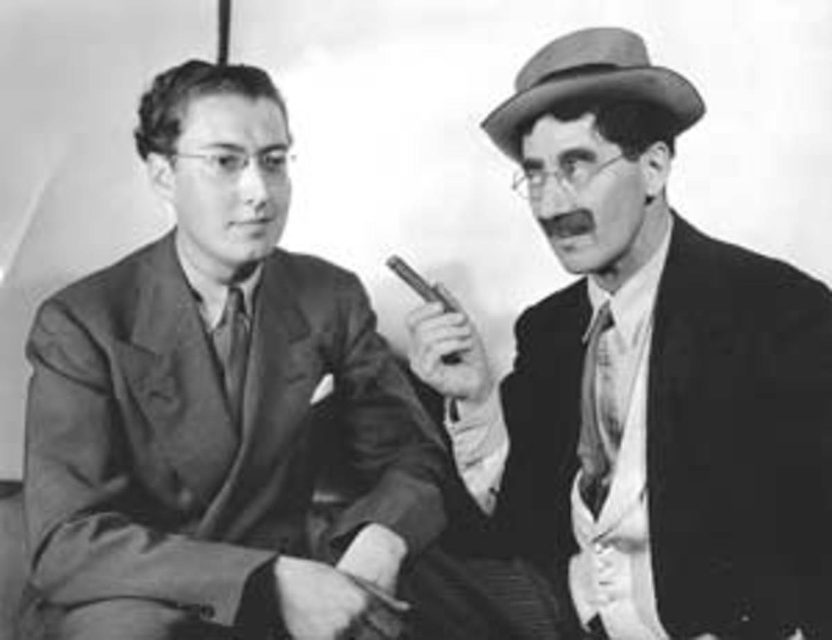 Brecher with Groucho Marx