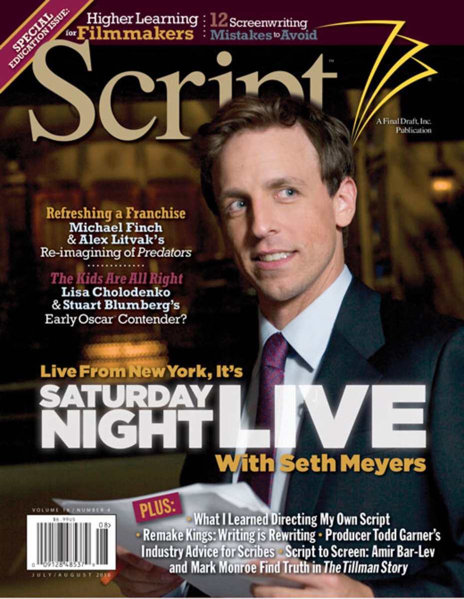 Script Magazine Cover - July/August 2010