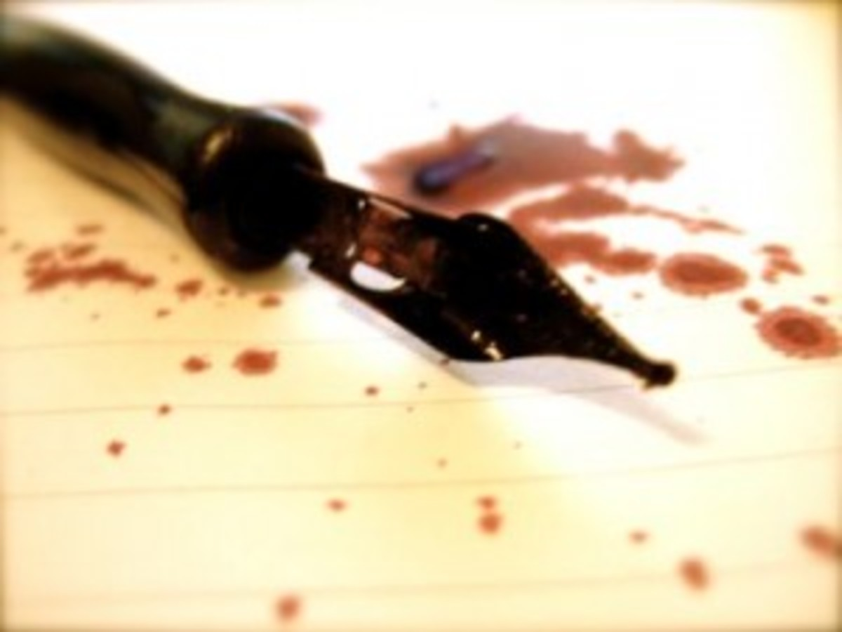 If you're not writing with blood, you're not really writing.