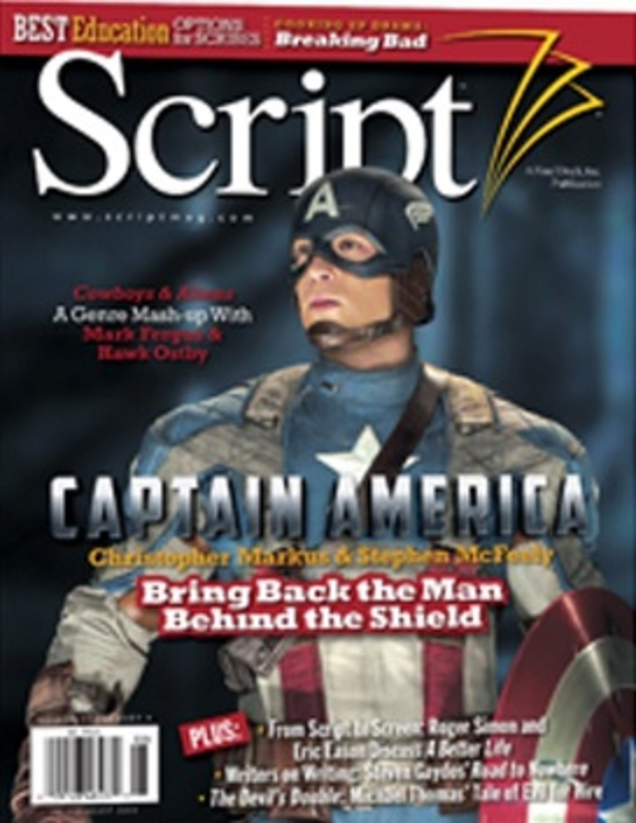 Captain America on the July/August issue of Script