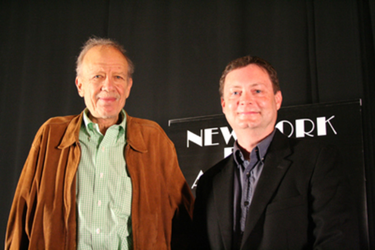 Tom Mankiewicz (left) with Script contributor, Ray Morton