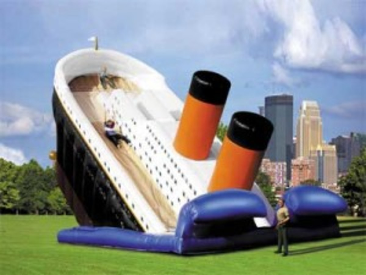 A Bouncy Castle Titanic. Classy.