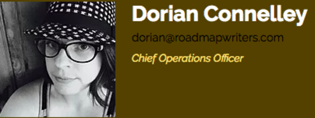 Roadmap Writers COO Dorian Connelly