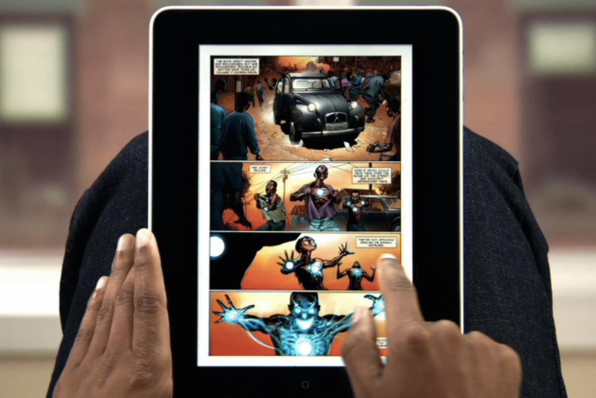 Read comic books on iPad