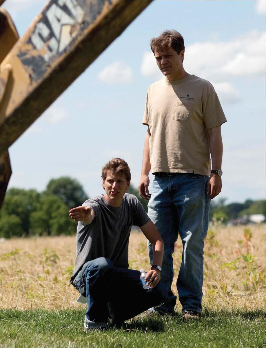 Shannon with Take Shelter writer-director Jeff Nichols (left) on the set (PHOTO: SONY PI C T U R E S CL A S S I C S )