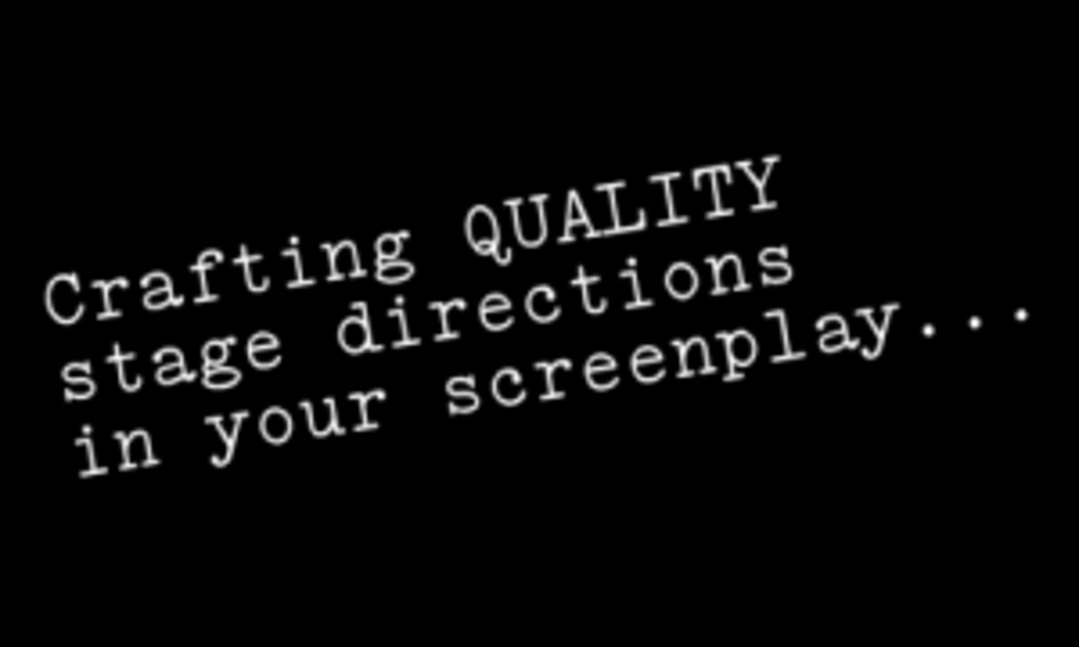 stage directions in your screenplay