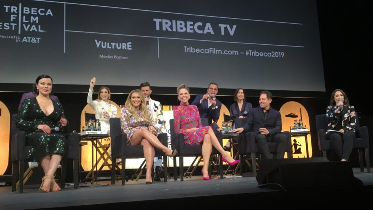 Cast of TV show Younger on stage at Tribeca Film Festival