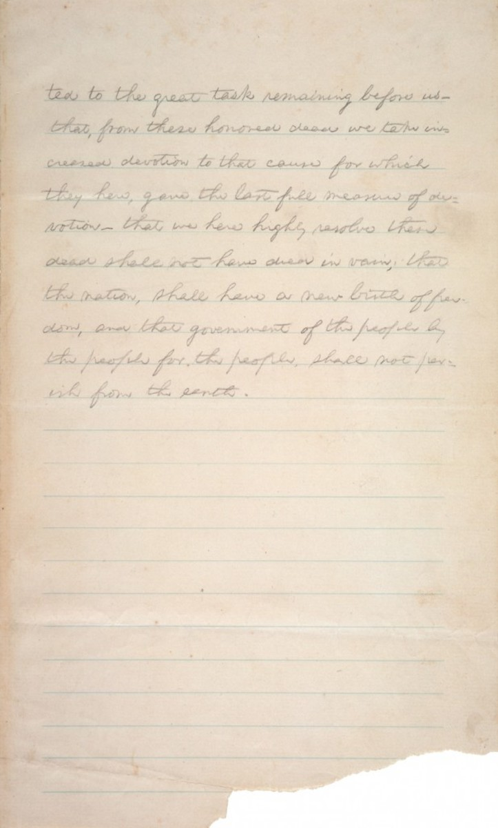 Second Page of Original Draft of Gettysburg Address