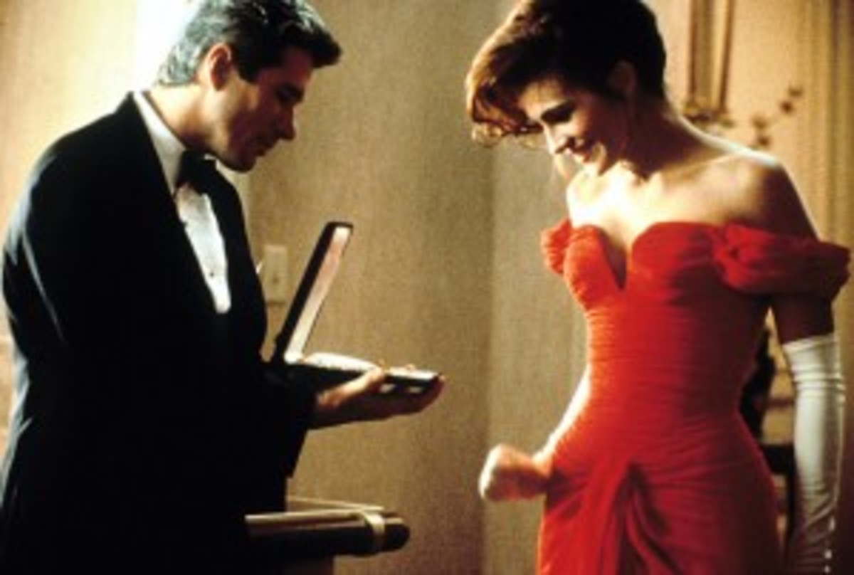 Despite their own financial best interests, two characters realize they can do the things they have been doing for money and do them for love instead in Pretty Woman.