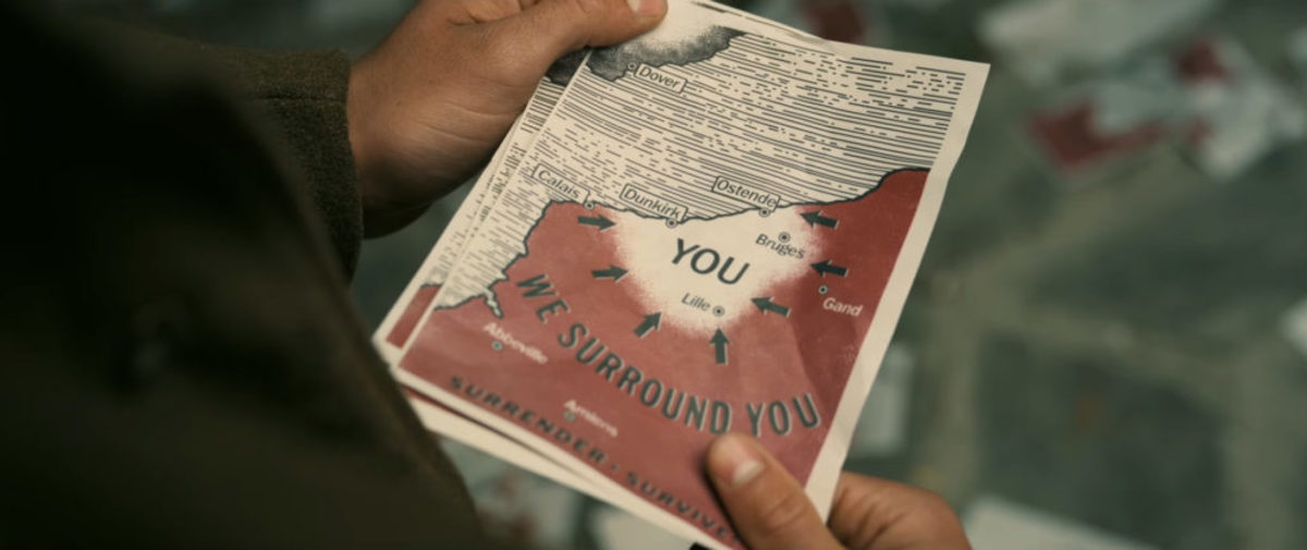 dunkirk film map closeup