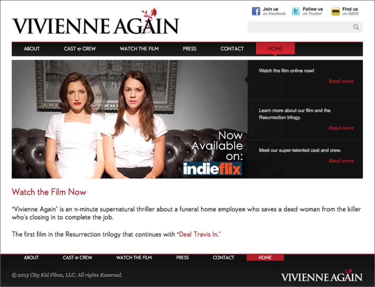 Short Film Website - keep it simple!