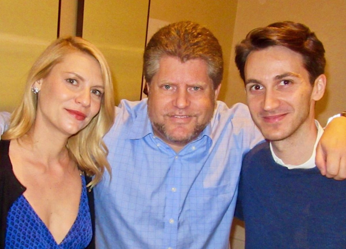 Claire Danes, Script.com reporter Andrew Bloomenthal, and screenwriter Daniel Pearle, Courtesy Zeitgeist Photography