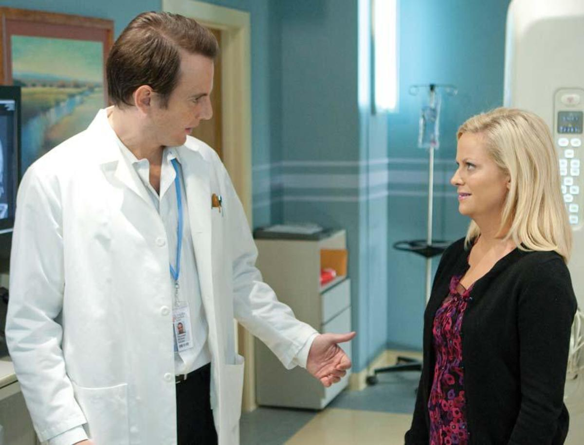Guest star Will Arnett as Chris with Poehler Photo: Paul Drinkwater Courtesy: NBC Universal